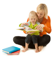 ATTACKread/spell > a reading, writing, and spelling programme by Jean Richards | Photo of a mother reading with child